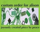 Mosaic Pendants - Custom Order for Alison