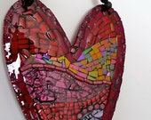 love is stratified mosaic hanging heart