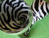 Zebra Print Wine Glass - one