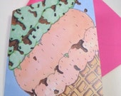 You Complete Me Ice Cream Card