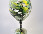 Painted Wine Glass The Tree Hugger