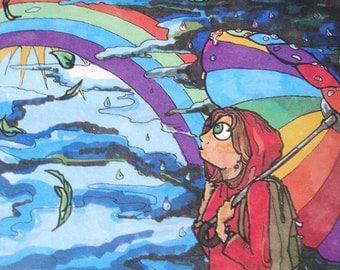Look For the Rainbow Card