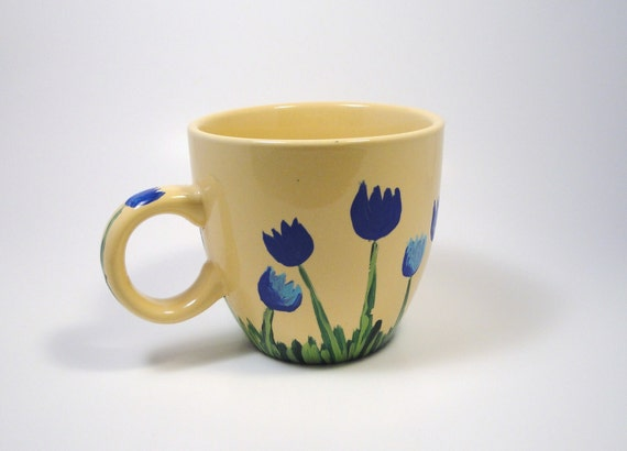 What's Up ButterCup Painted Coffee Cup