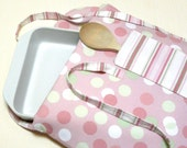 Casserole Carrier Insulated Pink Polka Dots