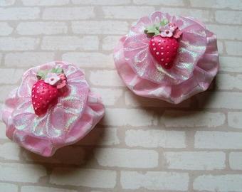 2 Pink Yo Yo Barrettes