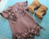 American Girl doll clothes...Indian dress and moccasins