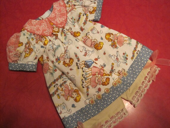 American Girl doll clothes, retro fabric...Mary had a little lamb