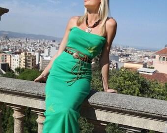 Green with Harmnony Tube Dress