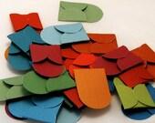 32 teeny tiny miniature square jewel tone envelope note sets