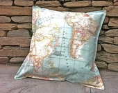 Decorative outdoor pillow cover Vintage Map