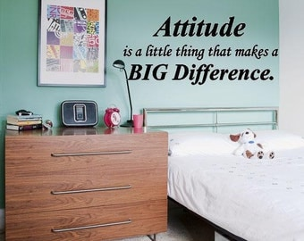 Wall Lettering Attitude A Little Thing That Makes A Big Difference Vinyl Word Art