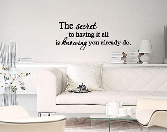 Wall Lettering The Secret To Having It All Vinyl Words Art Wall Decal