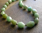 Faceted Green Amazonite Necklace