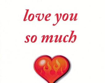 I love you so much I want to make you c.m til you scream - Intimate Greeting Card MATURE