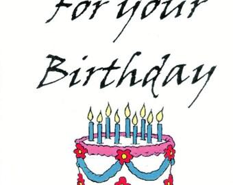 Happy Birthday - Intimate Greeting Card MATURE