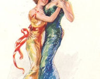 Lovers' Dance Refrigerator Magnet