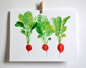 Red Radish Note Card