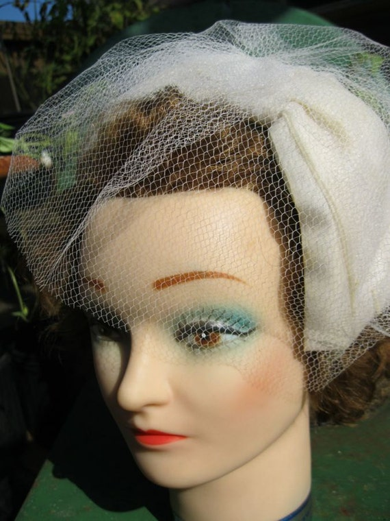 RESERVED for Candace - Beautiful - Wedding Headband or Headpiece - Large chiffon bow with small net veil