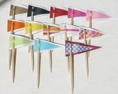 Cupcake flags, Birthday Cupcake flags, Baby shower cupcakes, wedding shower cupcake flags.