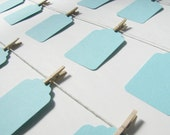 100 Blue Wedding Favor Tags by Kiwi Tini Creations
