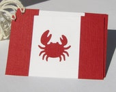 Canadian Crab gift tags by Kiwi Tini Creations