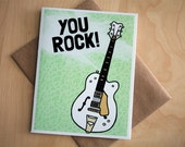 Guitar Card -  You Rock Gretsch White Falcon