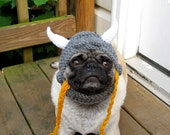 Dog Hat - Viking Warrior Hat/Made To Order- As seen in moderndog Magazine