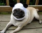 Dog Hat - Panda Bear Hat/ Made To Order