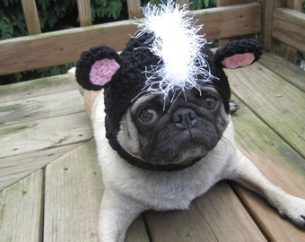 Dog Hat - L'il Stinker Skunk/Made To Order- As seen in moderndog Magazine