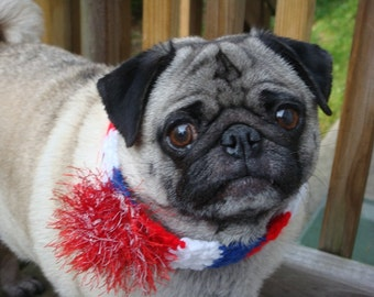 Patriotic Fireworks Neck Warmer for Dogs and Cats - Made To Order