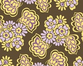 1 Yard Fiona's Fancy Fabric by Lila Tueller Designs for Riley Blake, Orchid Leaves Fabric