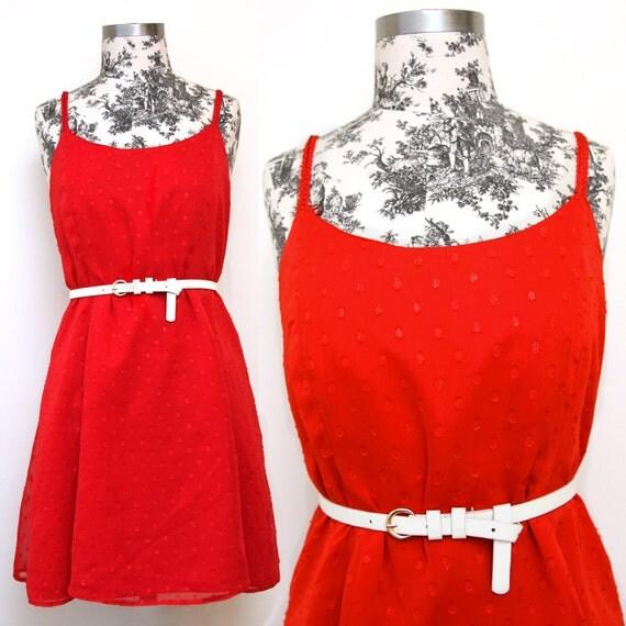 Cherry Red Dress - Size L