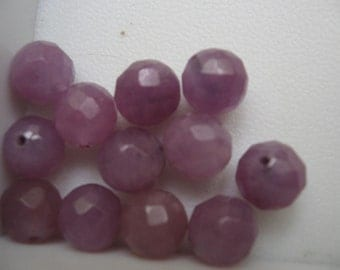 Candy Jade Purple Faceted Beads 8mm QTY - 6
