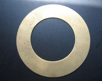 """Vintage Raw Brass 73mm Ring ONLY ONE 2 7/8"""""""" across"""
