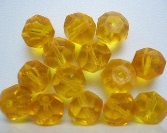 Vintage Bohemian Topaz Crystals circa 1900s 10x9mm Qty- LAST 2