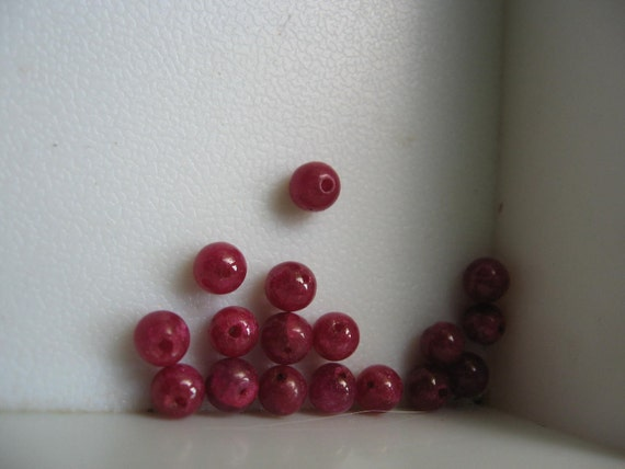 Natural Ruby Beads Round 4.5mm QTY - 5