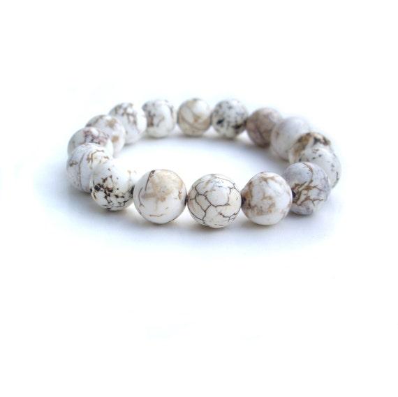 White Bracelet - Stretch Bracelet by JP with Love