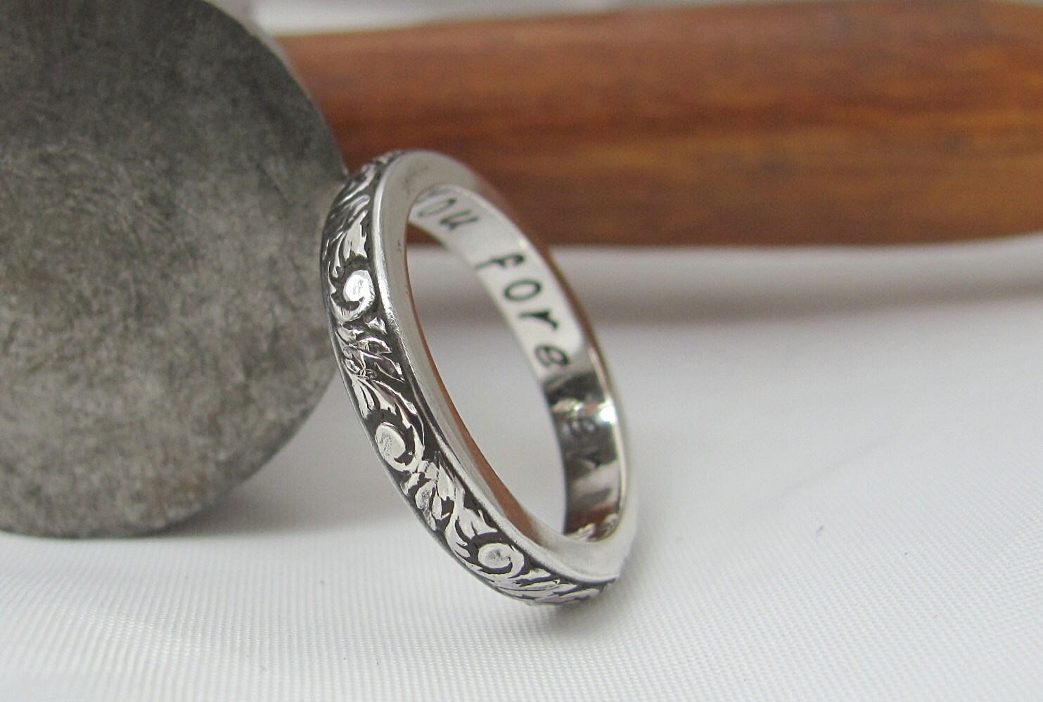 poesy ring custom made to order sted silver posie