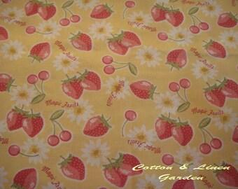 Japanese Cotton Linen - Strawberry Fields Forever