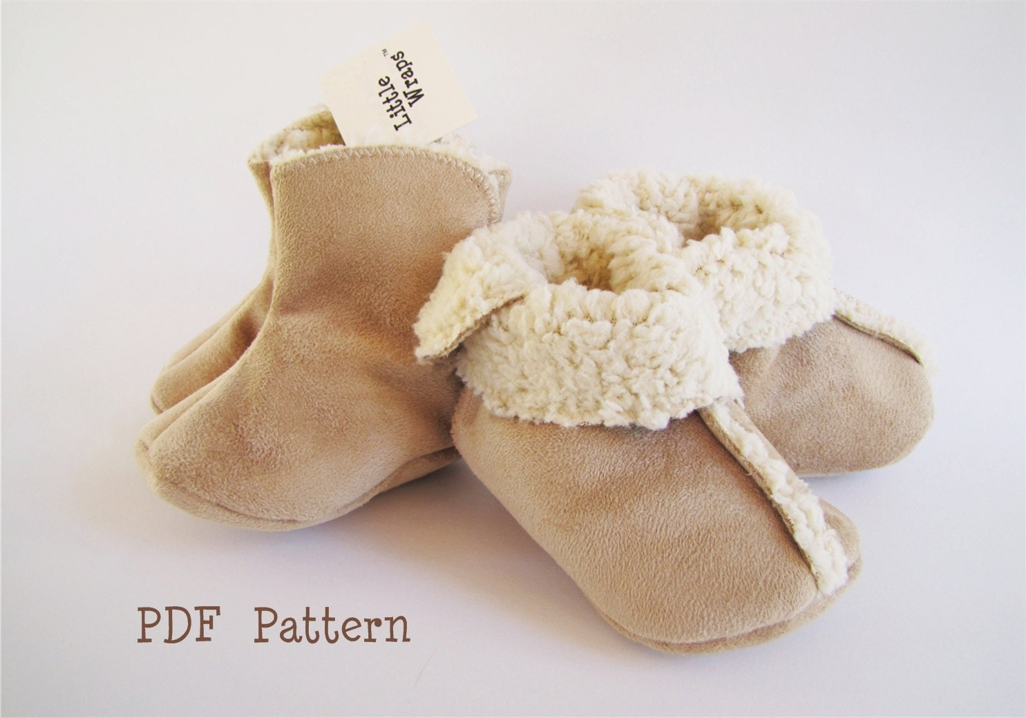 Baby Boot Pattern PDF / Sewing / Little Wraps 3 Piece Bootie
