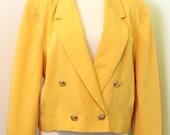Yellow PENDLETON Cropped Blazer