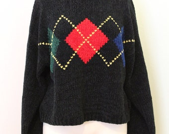 90s cropped black sweater