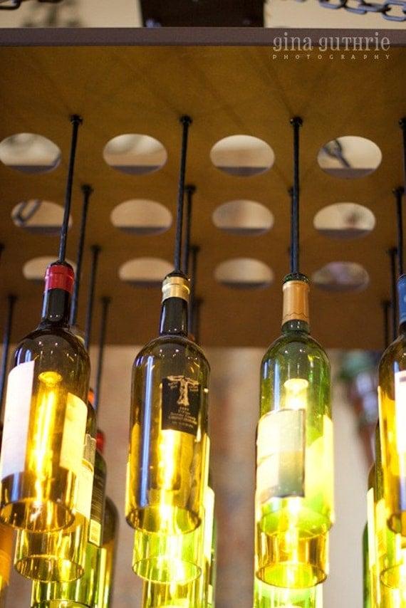 20 Wine Bottle Light Chandelier on metal