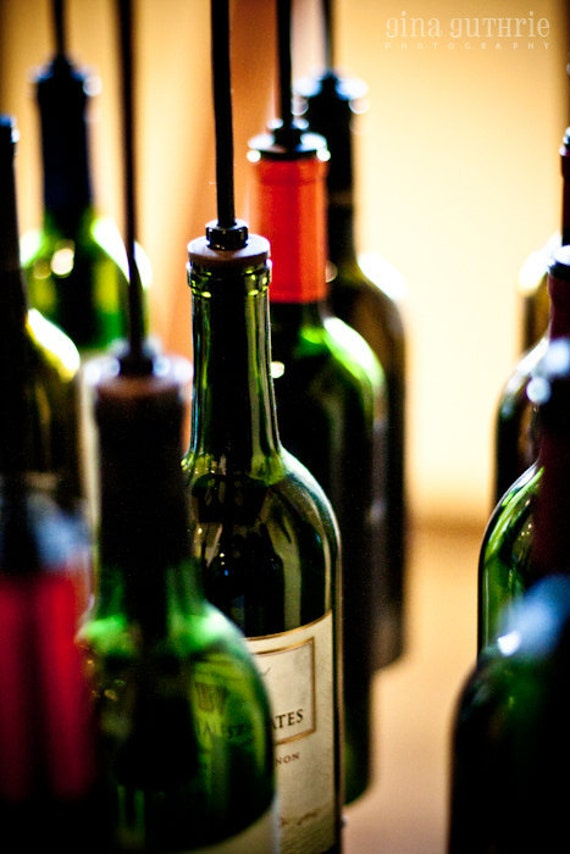 Wine Bottle Chandelier  - 9 Bottle