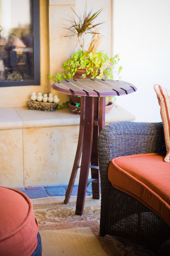 Wine Barrel Top Bistro Table