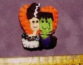 Frankenstein's Monster & His Bride Halloween Ornament
