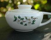 Vintage Art Deco Magnolia Sugar Bowl Harlequin Shabby Cottage Look