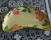 Vintage Franciscan Desert Rose Crescent Bone or Salad Plate 1960s California