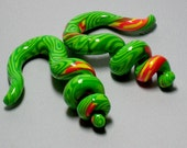 Gauged Earrings Hot Green 0G