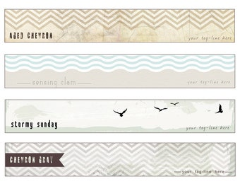 Modern Distressed Pre-made Etsy banners - OOAK - Pick your design